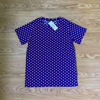 Neon Orange Polka Dot T-Shirt