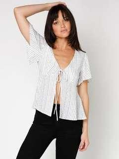 MINKPINK | Tie Front Top | Size Small