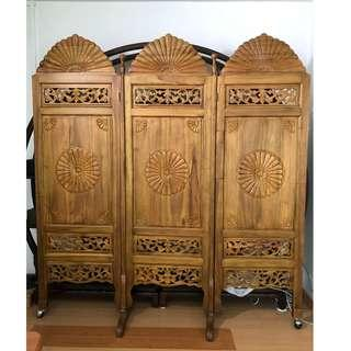 Antique Teak screen