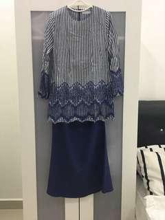 Baju Kurung Moden biru