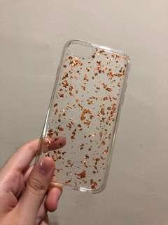 Iphone 6/6s/7/8 gold flakes case