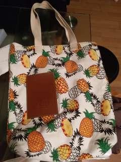 購自泰國 菠蘿款tote bag