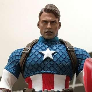 Marvel One:12 Collective Captain America 美國隊長 marvel 連 custom head sculpt 頭雕 hottoys