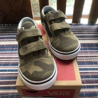 🆕AUTHENTIC VANS OLD SKOOL CAMO TODDLER SHOES