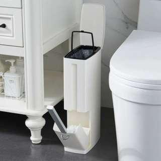 Toilet Storage and Brush Holder