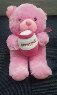 Boneka Beruang Madu Pink