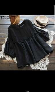 🚚 Zanzea woman lantern sleeve round neck casual plus size blouse