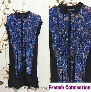 French Connection Blue Floral Dress