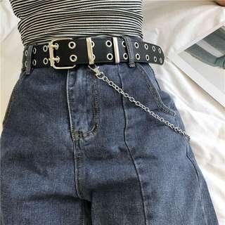 double row chain belt