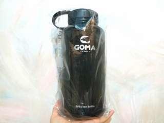 全新 戶外運動 行山 露營 瑜珈 番工番學 黑色 BPA Free 1000 ML 水樽 water bottle 連包裝 未拆牌 $75/1 (只有1個)