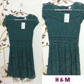 H&M Green Lace Dress