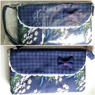 日本 JP 印花布手包 wallet 小銀包 手機化妝袋 mobile phone cosmetic bag (可送/加$0.5買 PARKN' Shop 百佳 Vivo/ crcare 華潤堂 入廚樂 rasonic / U select / 惠康 pyrex / 千色店 citistore kitchenaid印花)
