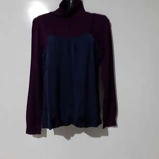 🚚 Purple turtle neck long sleeves