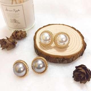 🚚 復古珍珠耳環