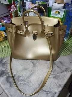 Gold Jelly Bag (Birkin Inspired)