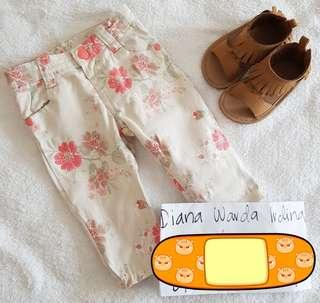 Target US baby flowery pants