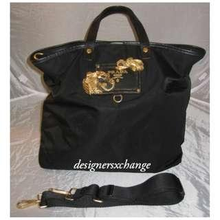 f2ddce2eee8b Prada Black Tessuto Tote Messenger with Gold Dragon Enblem Ltd Edition  (BN1222) RARE