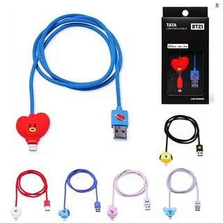 official bts bt21 8-pin, usb type c cable