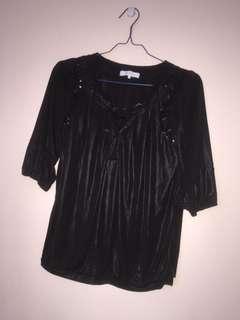 #maudompet black blouse