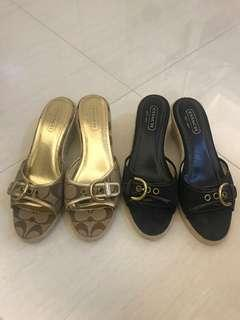 🚚 Coach wedge heels sandals shoes - Size 8 or 38