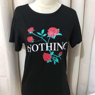 nothing t-shirt tumblr kaos black top