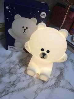 Line Friends Brown LED touch lamp 90% new