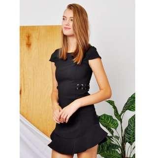 🚚 Purpur Ariella Criss Cross Dress in Black BNWT Size: M