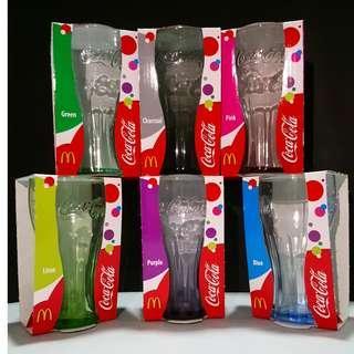 McDonald's 2009 Coca Cola Glass Set 麥當勞可口可樂玻璃杯 6色套裝