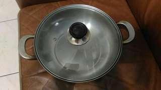 🚚 二手白鐵鍋有使用痕跡 便宜賣出100元 能接受再下單