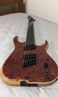 🚚 Skervesen Raptor 7 Multiscale Custom Guitar