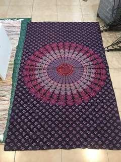 🚚 紫紅色曼陀羅掛布、地墊