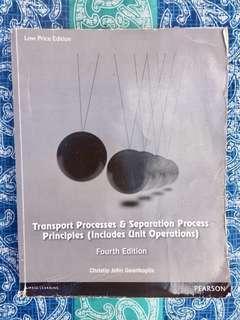 Transport Process & Separation Process Principles-Geankoplis-4th Ed