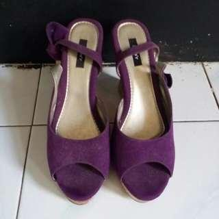 #maudompet Wedges ungu purple julia'r size 37 / 38