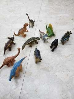 Box of 12 Dinosaurs plastic figure. Bought from Japan