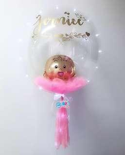 """24"""" Personalised Helium Balloons with Feather"""