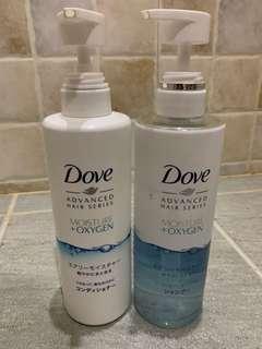 DOVE日本製無矽靈輕感洗髮水及護髮素