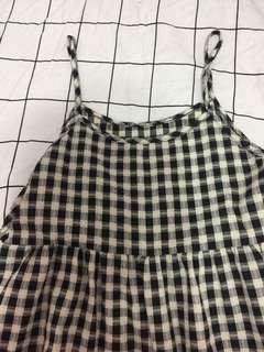 🚚 格子吊帶裙