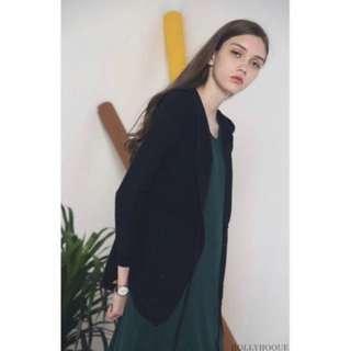 🚚 Palermo Knit Hoodie Black