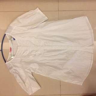 夏日純白娃娃裝孕婦洋裝