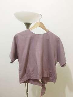 Vow shop lavender back slit top