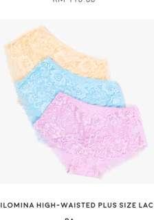 Plussize lace underwear 6xl
