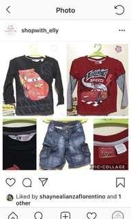 Preloved clothes for kids/ boys