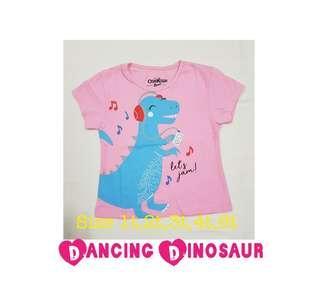 🚚 🦕 Dancing Dinosaur girls' tshirt