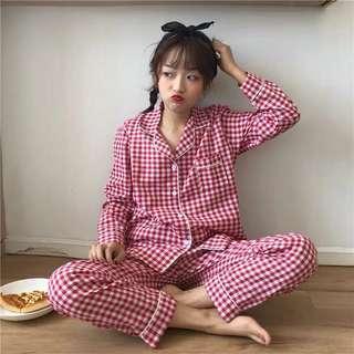 預購❗️格子睡衣套裝