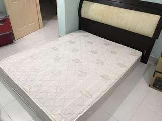 Mattress with Bedframe - Queen Size