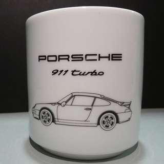 Vintage Porsche Coffee Mug 911 turbo 罕有保時捷咖啡杯