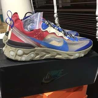 size 40 9f448 380fd US 10.5 Nike x Undercover React Element 87 Light Beige Chalk Blue