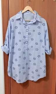 Women's Long sleeves Boyfriend shirt dress