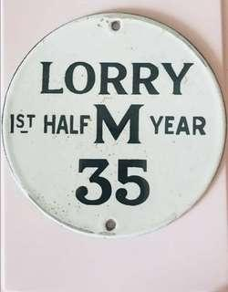 🚚 Vintage Lorry Plate from 60's