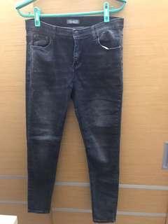 🚚 刷白 彈性很好 顯瘦 鬆緊牛仔褲